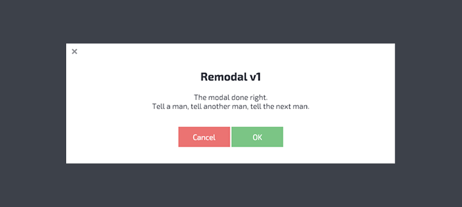Remodal example